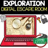 Explorers Digital Escape Room, Breakout Room Test Prep Distance Learning