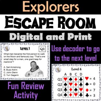 Explorers: Escape Room - Social Studies