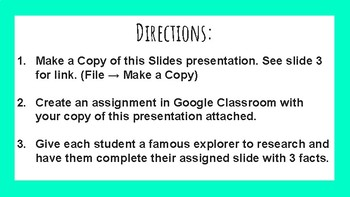 Explorers Google Slides Template!