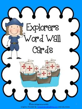 Explorers Illustrated Word Wall Cards