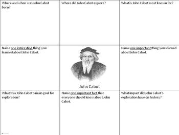 Explorers Info Charts - U.S. History Activity for Grades 4-8