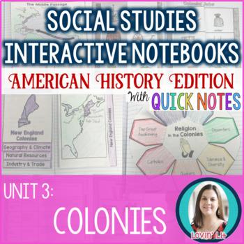 Colonies Interactive Notebook
