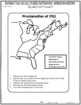 13 Colonies Interactive Notebook