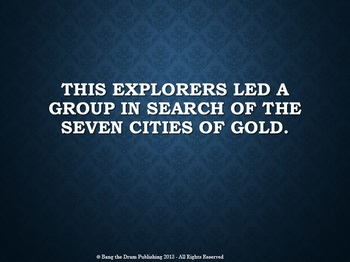 Jeopardy - Explorers (A 5th Grade Review of the Age of Exploration)
