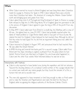 Explorer's Journal:  Creative Writing Project