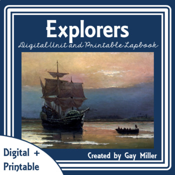 European Explorers Digital Unit | Age of Exploration Lapbook Distance Learning