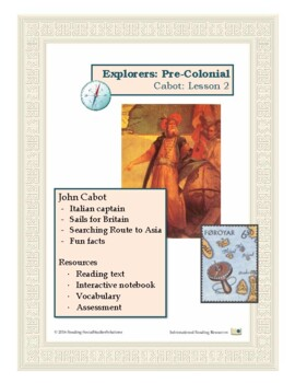 Explorers Lesson 2 - Cabot