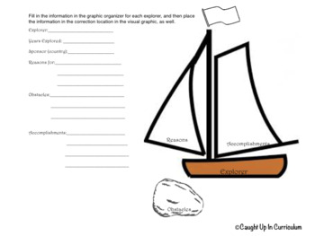 Explorers Note-taking Graphic Organizer SS3H2