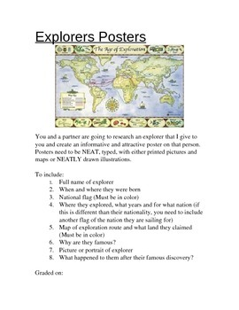 Explorers Posters Project