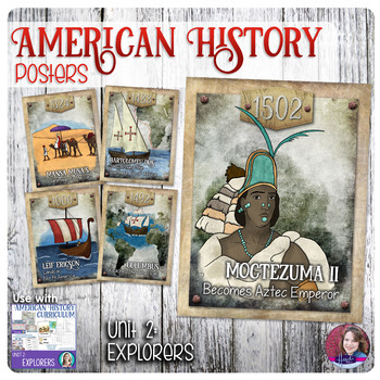 Explorers Poster Set - US History