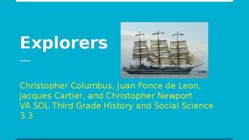 Explorers Powerpoint for VA History SOL 3.3