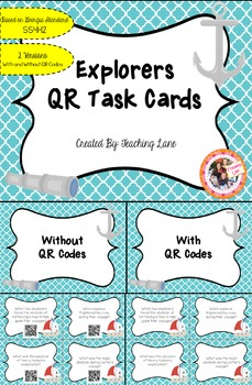Explorers QR Task Cards