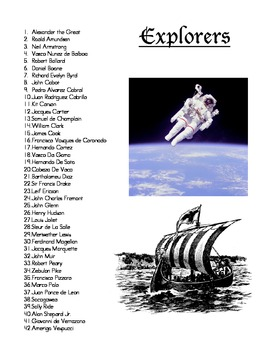 Explorers Report