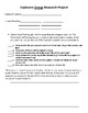Explorers Research Project: Group or Single Student Assignment Pages w/ Rubrics