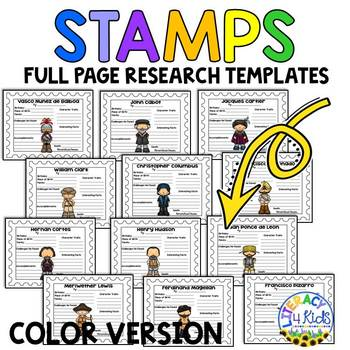 Explorers Research Templates for Grades 3-5