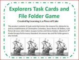 Explorers Review Cards and File Folder Game