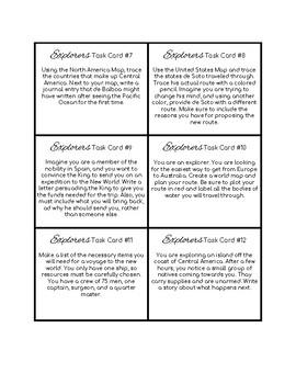Explorers - Task Cards (Set of 12)