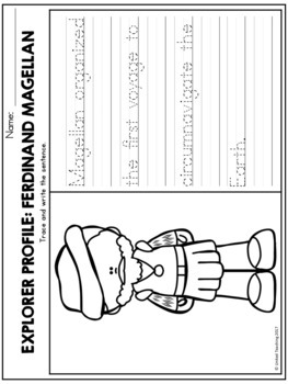 Explorers Theme Based Handwriting Lessons (Manuscript Edition)