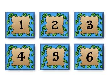 Explorers Theme Calendar Numbers