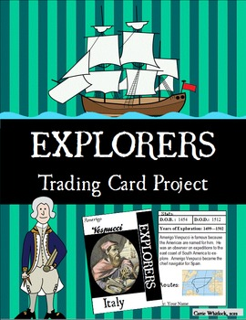 Explorers Trading Card Project