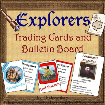 Explorers Trading Cards and Bulletin Board