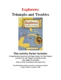 Explorers: Triumphs and Troubles Activity Packet
