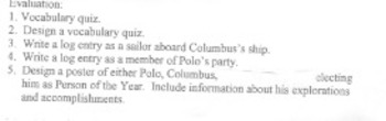 Explorers Unit: An Integrated Unit Study of Marco Polo, Christopher Columbus