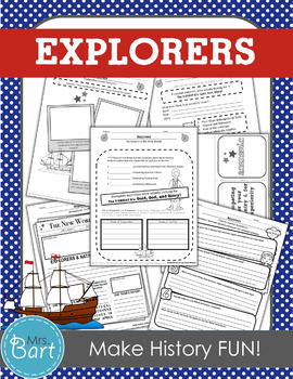 Explorers Unit Resources and Activities- 53 pages