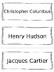 Explorers Vocabulary Cards - SS3H2