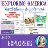 Explorers Vocabulary Posters, Flash Cards, Word Wall Cards
