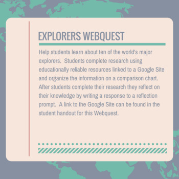 Explorers Webquest
