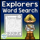 Explorers Word Search -  Columbus, Hudson, deLeon, Magellan and more!