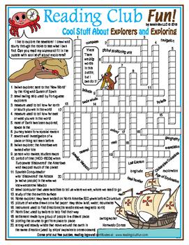 Explorers and Exploring Crossword Puzzle