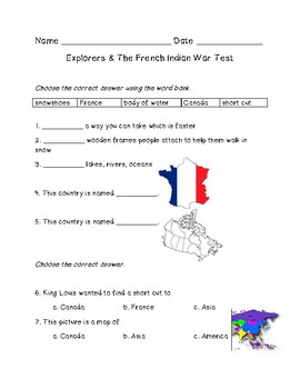 Explorers and The French Indian War