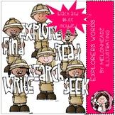 Explorers clip art - Words - Mini - Melonheadz Clipart