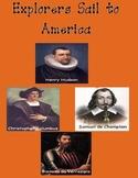 Explorers in America-Columbus, Hudson, Verrazano, Champlai