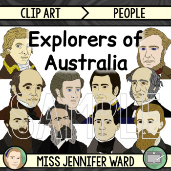 Explorers of Australia Clip Art GROWING BUNDLE