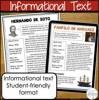 Explorers of Florida Text and Activities