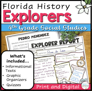 Explorers of Florida Text and Activities