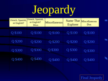 Explorers of North America Jeopardy Review Game (Editable)
