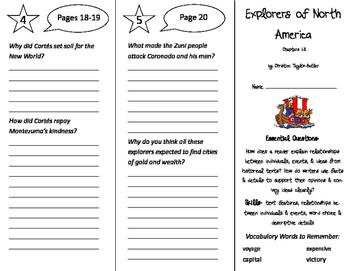 Explorers of North America Trifold - ReadyGen 5th Grade Un