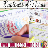 TEXAS EXPLORERS Complete BUNDLE with Cartoon Notes and Mod