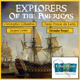 Explorers of the Americas:  Columbus, Newport, Ponce De Leon, and Cartier