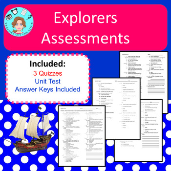 Explorers of the New World Bundle – Notes, Assessments, Study Guide, Project
