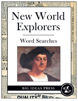 New World Explorers Word Search Bundle Pack (Grades 2-4)