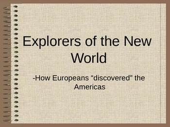 Explorers of the New World Project