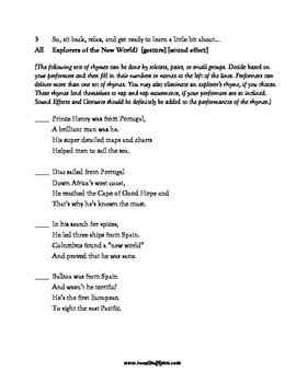 Explorers of the New World Readers Theatre Scripts
