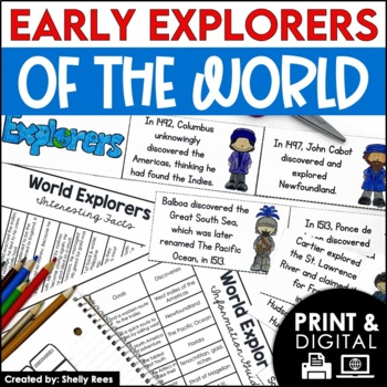 Christopher Columbus & Explorers of the World Interactive Notebook and Mini Unit