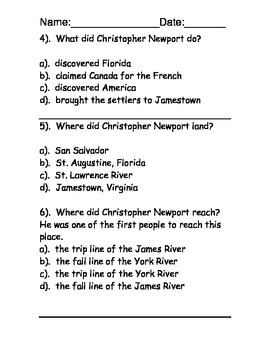 Explorers reading comprehension - five passages and activities!