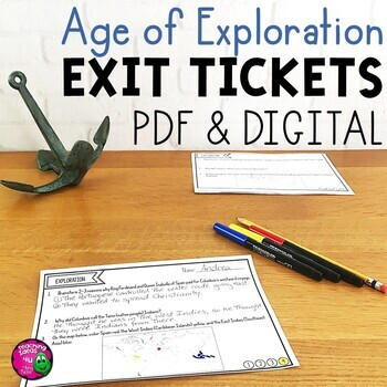 Explorers & the Age of Exploration Exit Tickets Set